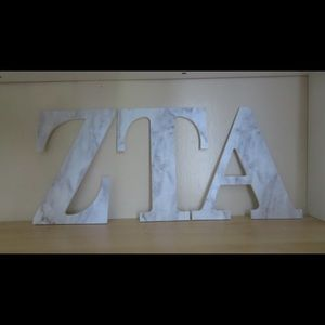 8 inch marble ZTA letters